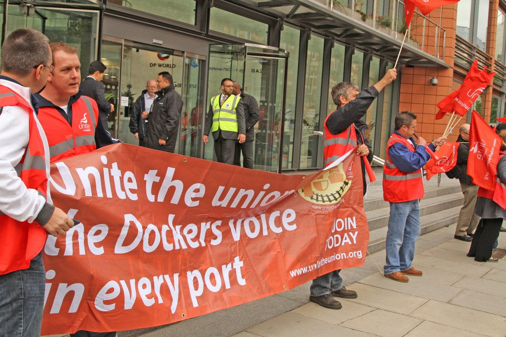 Dockers at DP World, London. Photo: Mike Gibbons