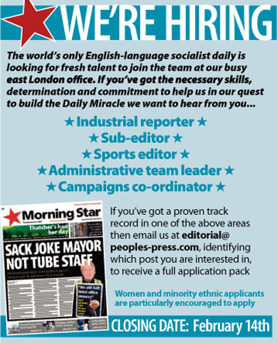 Morning-Star's-job advert - hiring