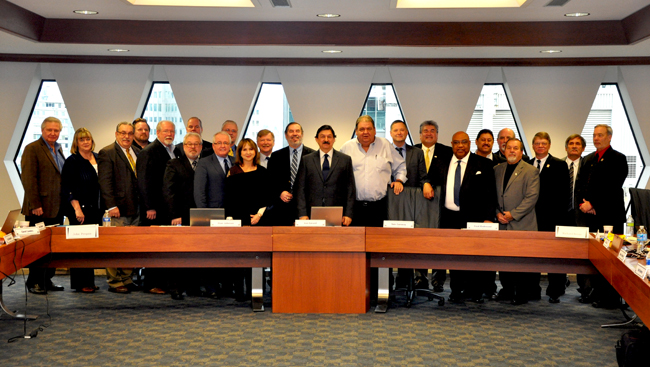 The International Board Of USW with Napoleon Gomez in Pittsburgh.