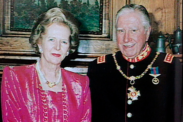 File Footage Of Margaret Thatcher And Augusto Pinochet Power In A Union